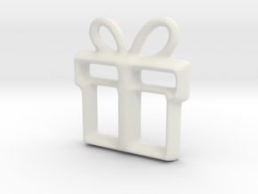 Present Pendant in White Natural Versatile Plastic