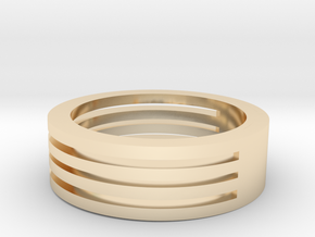 M003 Mans Wide Band in 14K Yellow Gold