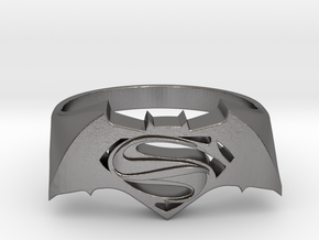 SuperMan Vs Batman Size 11 in Polished Nickel Steel