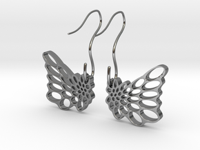 Butterfly Earrings in Fine Detail Polished Silver
