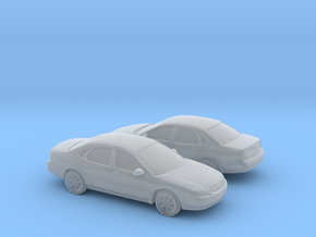 1/160 2X 1999-03 Ford Taurus in Smooth Fine Detail Plastic