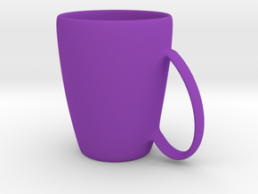Coffee mug #6 XL - Handle UpSideDown in Purple Strong & Flexible Polished