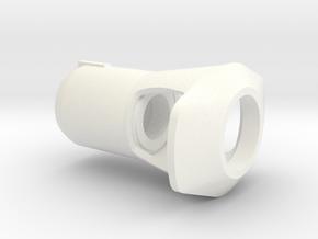 1/16 M41 Early Cast Muzzle Brake in White Processed Versatile Plastic
