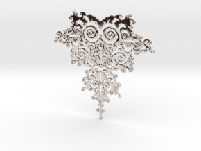 Mandelbrot Fractal Design in Platinum