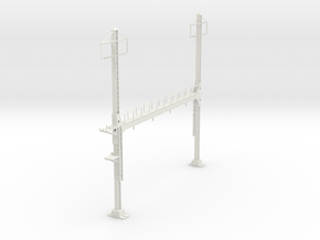 PRR BEAM SIGNAL 4  BRIDGE 2 PHASE 87 in White Natural Versatile Plastic