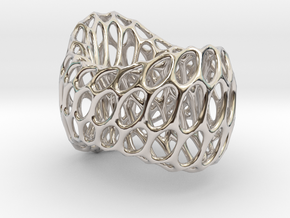 Ring #Stl in Rhodium Plated Brass