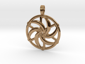 SILVERMOON SPIRAL in Polished Brass