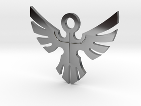 Duke's Pendant - Yu-Gi-Oh! Darkside of Dimensions in Fine Detail Polished Silver