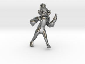 3D-Monkeys 240 in Fine Detail Polished Silver