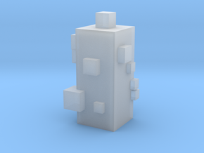 Cubic Chess - Bishop in Smooth Fine Detail Plastic