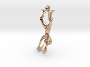 3D-Monkeys 269 in 14k Rose Gold Plated Brass