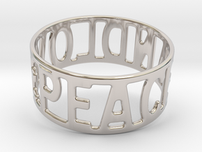 Peaceandlove 70 Bracelet in Rhodium Plated Brass