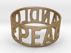 Peaceandlove 78 Bracelet in Polished Gold Steel