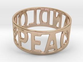 Peaceandlove 80 Bracelet in 14k Rose Gold Plated Brass