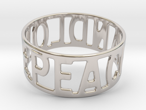 Peaceandlove 80 Bracelet in Rhodium Plated Brass