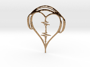 Musical Heart Pendant in Polished Brass
