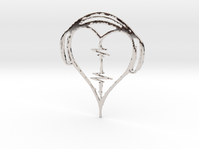 Musical Heart Pendant in Rhodium Plated Brass