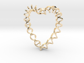 DNA Heart in 14K Yellow Gold