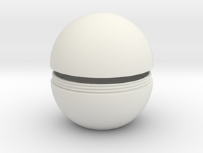 Sphere With Thread in White Natural Versatile Plastic
