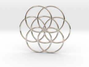 Flower of Life - Hollow in Platinum