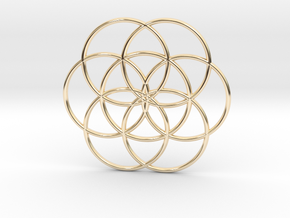 Flower of Life - Hollow in 14k Gold Plated Brass