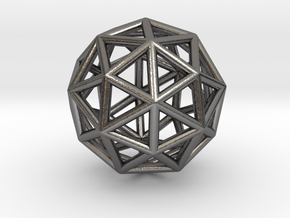 0325 Pentakis Dodecahedron E (a=1cm) #001 in Polished Nickel Steel