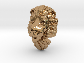 Lion pendant in Polished Brass