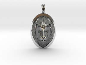 Lion Head Necklace Jewelry - Leo Sign - Symbol in Fine Detail Polished Silver