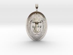 Lion Head Necklace Jewelry - Leo Sign - Symbol in Platinum
