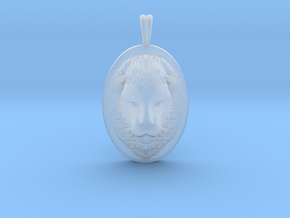 Lion Head Necklace Jewelry - Leo Sign - Symbol in Smooth Fine Detail Plastic