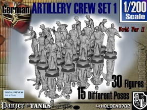 1-200 German Arty Crew Set 1 in Frosted Extreme Detail