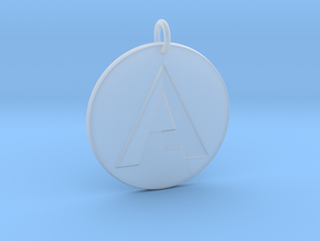"""A"" Letter Initial Pendant in Smooth Fine Detail Plastic"