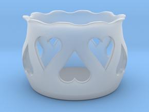 Tea Light Holder Heart in Smooth Fine Detail Plastic