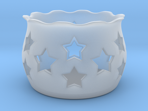 Tea Light Holder Star in Smooth Fine Detail Plastic
