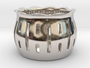 Tea Light Holder Line in Platinum
