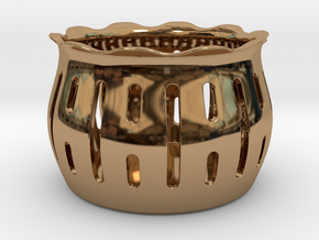 Tea Light Holder Line in Polished Brass
