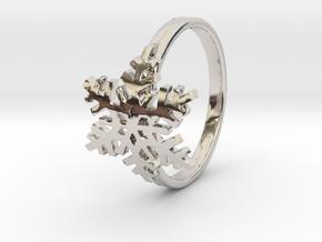 雪花戒指 in Rhodium Plated Brass