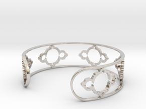 Mandelbrot Light Bracelet 7in (18cm) in Rhodium Plated Brass