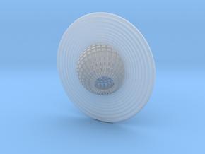 Saturn pendant in Smooth Fine Detail Plastic