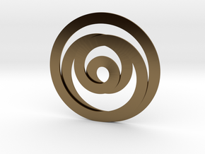 Circumspection in Polished Bronze
