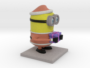 Santa Minion in Full Color Sandstone