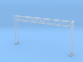 HO Scale Sign Gantry 149mm in Smooth Fine Detail Plastic