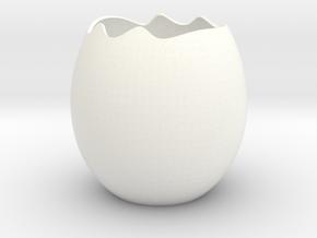 花盆 in White Processed Versatile Plastic