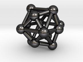 0333 Tetrakis Hexahedron V&E (a=1cm) #003 in Polished Grey Steel