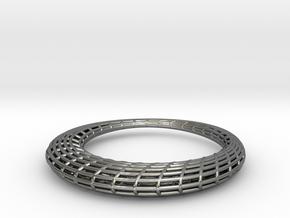 Elliptic Mesh pendant in Fine Detail Polished Silver