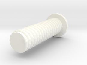 Bolt in White Processed Versatile Plastic