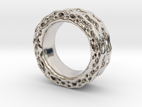 Organixz Ring 4 in Rhodium Plated