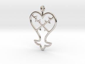 Kingdom Hearts Pendant in Rhodium Plated Brass