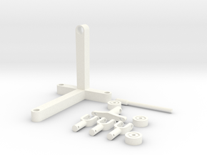 V8 Engine Stand in White Processed Versatile Plastic