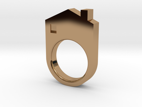 House Ring in Polished Brass